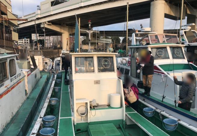 打木屋釣船店の船着き場